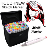 TOUCHNEW 30 36 40 48 168 Color Art Markers Set Alcoholic Oily Dual Headed School Drawing