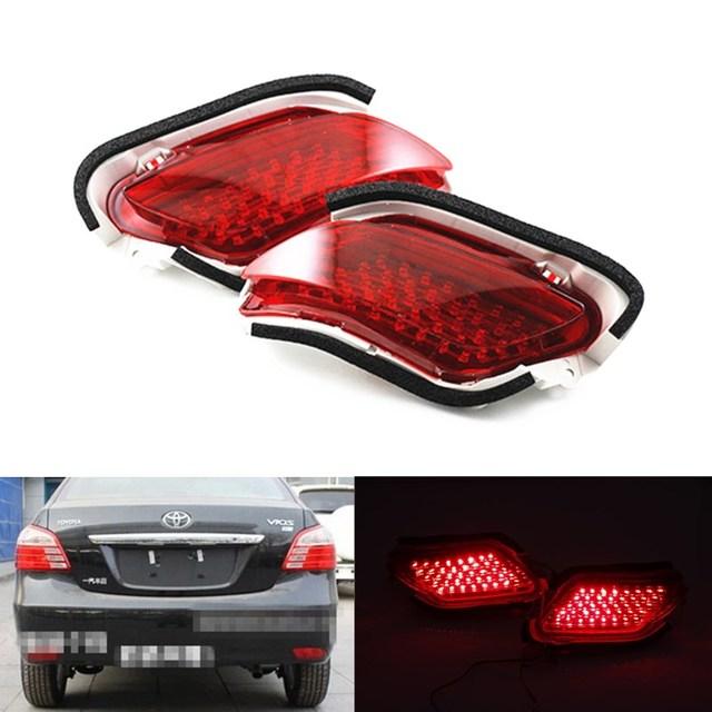 2 pcs Top potência de travagem da cauda estacionamento aviso luz de nevoeiro à prova d' água LEVOU choques refletor traseiro lâmpada para 2007 Toyota Vios/novos Yaris
