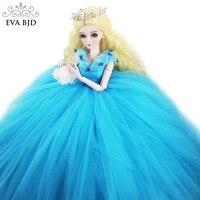 22 BJD полный набор + ручной Макияж стеклянные глаза + Золушка бальное платье 1/3 BJD кукла 56 см шарнирная кукла Фэнтези Девушка игрушка в подарок