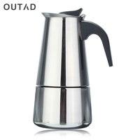 2/4/6 copos de café espresso potes aço inoxidável qualidade gotejamento chaleira bule chá moka coffee pot extractor de café 100/200/300ml