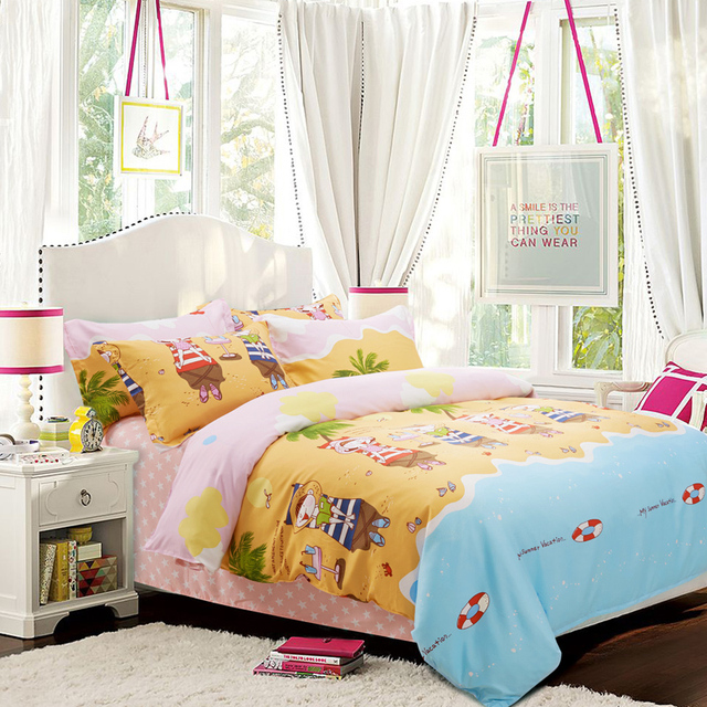 Beach Themed Comforters And Quilts Star Bed Sheets Kids Bedding Set Parure  De Lit Bed Linen