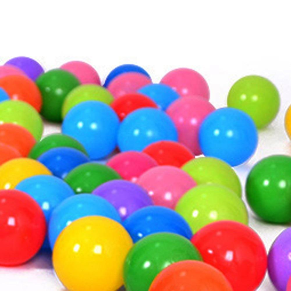 50 יח'\חבילה פלסטיק רך צבעוני ידידותית לסביבת בריכת המים אוקיינוס גל כדור בייבי מצחיק צעצועי לחץ אוויר כדור ספורט כיף חוצות