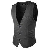 New Arrival Mens Suit Vest Men Brand Fashion Blazer Men S Solid Color Waistcoat Men Slim