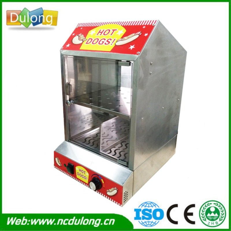 Hot Dog Display Electric Food Warmer Stainless Steel Food Burger Warmer Cabinet Showcase high quality hot dog display showcase food warmer stainless steel bread sandwich countertop tool