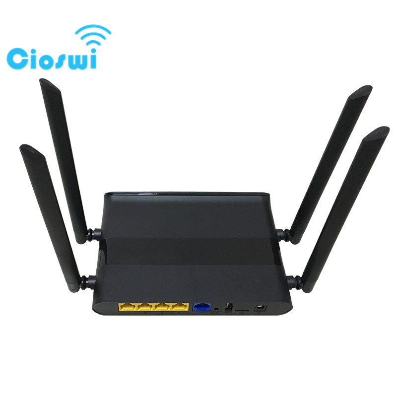 Cioswi Openwrt Router 1200 Mbps Wireless Router 5Ghz Smart App Manage Wifi Router Large Coverage 802.11ac Support DDNS/WPS