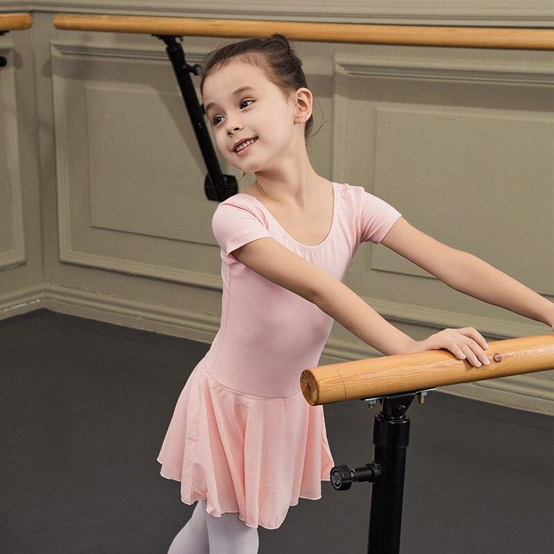 Robe de Ballet enfants justaucorps Tutu danse porter Costumes justaucorps de gymnastique pour filles Ballet justaucorps ballerine platinpakjes DQS1609