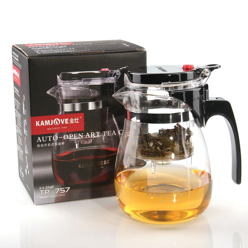 TP-757 Kamjove Art Tea Cup * Mug & Tea Pot 700ml Glass Gongfu Teapot Maker Press Puer Tea Tie Guan Yin Green Tea