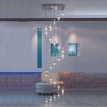 кристаллический светильник люстра висит современный светильник площади люстра дождь падение освещения спиральная лестница хрустальные люстры лестница хрустальная люстра Потолочные люстры Люстра подвесная