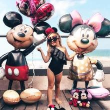 112 см гигантский шар Минни Микки на день рождения Детские Классические игрушки подарок фольгированный шарик, мультфильмы детские вечерние украшения