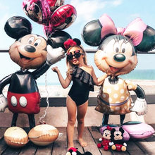112cm Riesen Minnie Mickey Geburtstag Party Ballon Kinder Klassische Spielzeug Geschenk Cartoon Folie luftballons Baby shower Party dekorationen(China)