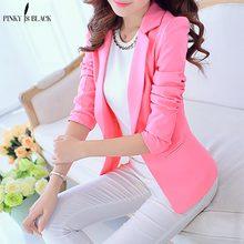 PinkyIsBlack OL Fashion Slim Blazer Coat Women Suit Jacket Long Sleeve Ladies Work Wear Candy Color Tops Female