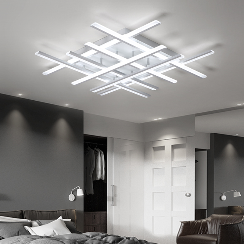 Modern led Chandeliers ceiling For living room lights bedroom Home Dec lustre led plafonnier White Chandelier lighting fixturesModern led Chandeliers ceiling For living room lights bedroom Home Dec lustre led plafonnier White Chandelier lighting fixtures