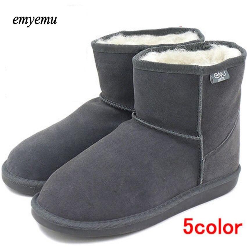 5 colores emyemu Bronte mini (w20003) vaca Suede cuero genuino con 100% lana merino invierno interior UEM Botas de nieve/Mouton Botas