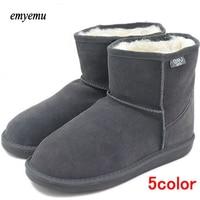5colors Emyemu Bronte Mini W20003 Cow Suede Genuine Leather With 100 Merino Wool Inner Winter