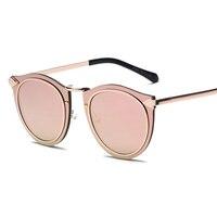 Mimiyou Contain Rose Gold Vintage Oval Frame Cosy Sunglasses Men Women Brand Shades Designer Eyewear Sun Glasses Oculos H388
