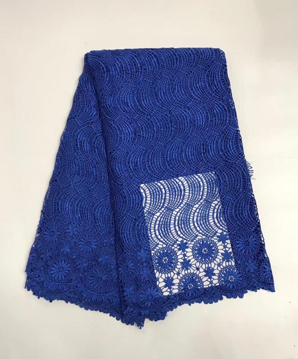 Africain polyester nigérian guipure cordon Suisse dentelle, haute qualité soluble dans l'eau dentelle Tissu pour robes De Mariée 5y/lot RL102003 dans Dentelle de Maison & Jardin