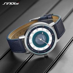 Image 2 - SINOBI reloj deportivo para hombre, cronógrafo de pulsera de cuarzo, militar, informal, de cielo misterioso
