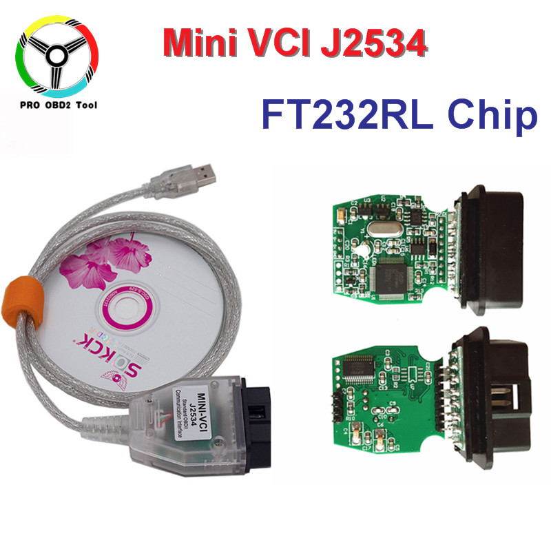 Newest V13.00.022 MINI VCI With FTDI232RL Chip Interface FOR TOYOTA TIS Techstream J2534 OBD2 OBDII Diagnostic Tool Free Ship newly mvci for toyota tis for hds for v0lvo vida dice obd2 obdii diagnostic tool m vci interface scanner fastshipping