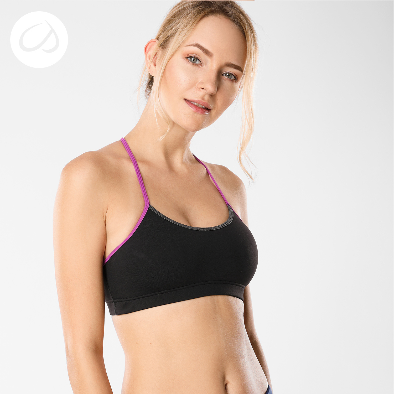 Women's Light Support Braided T-Back Comfortable Yoga Sports Bra