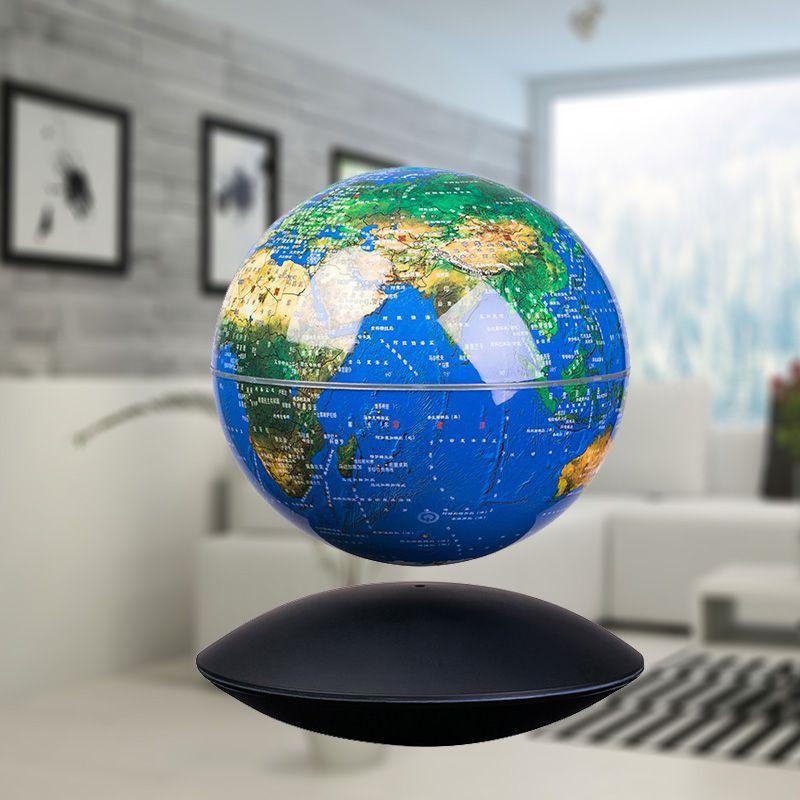 Globes décor maison 6 pouces Maglev Constellation Globes lumineux Rotation High-tech 3D créativité maison cadeaux décoration artisanat