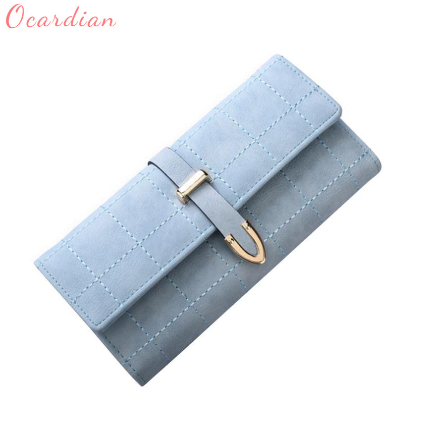2018 new lady multi-card large-capacity buckle long wallet  C0108