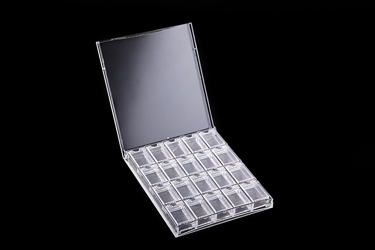 Empty Nail Art Tip Compartment Rhinestone Storage Clear Plastic Box Case,plastic accessory box 25 50 storage bottle plastic empty box case pot 4 nail art rhinestone bead gems