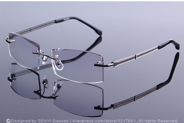 aa2066d7de 2019 Rimless Reading Glasses Man Prescription Eyeglasses Frame Men ...