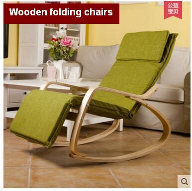 Wooden folding chairs nap leisure chair, balcony rocking chair real ...