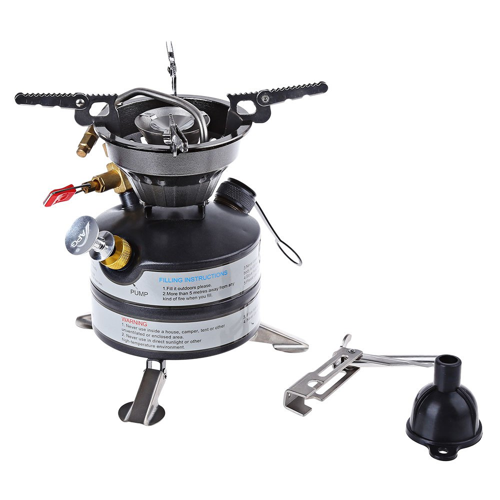 ФОТО Ultralight Portable Outdoor Gas Stove One-piece Stainless Steel Gas Stove For Outdoor Survival Picnic Light Gas Furnace Cooker