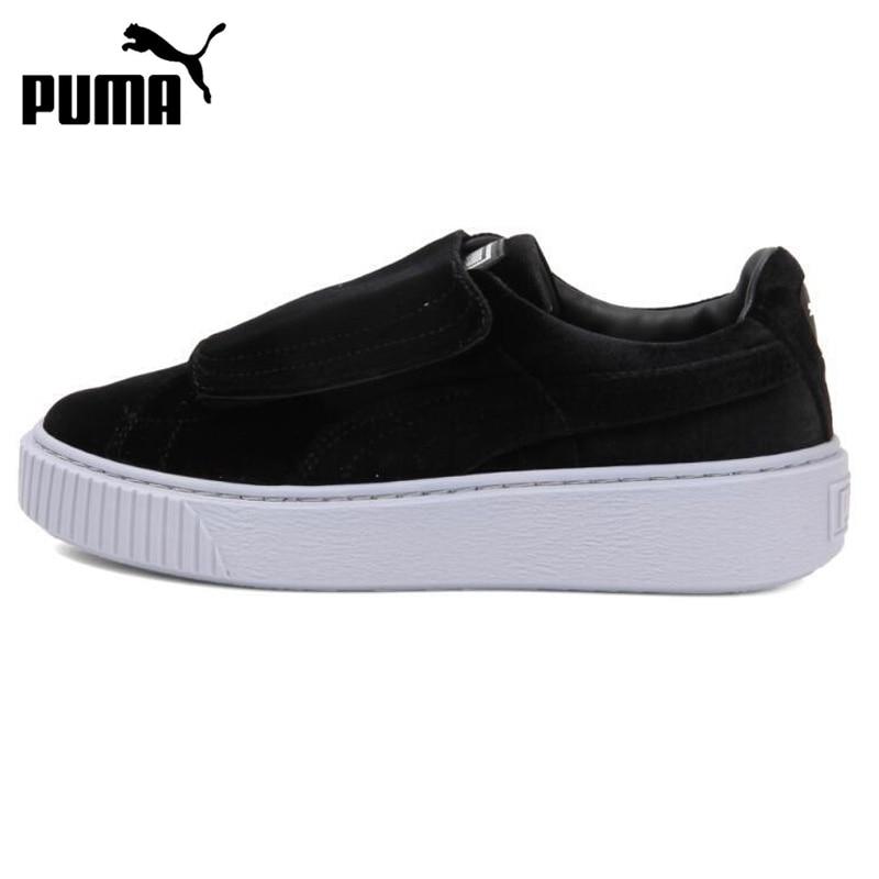 Original New Arrival 2017 PUMA Basket Platform StrapVR Womens Skateboarding Shoes Sneakers