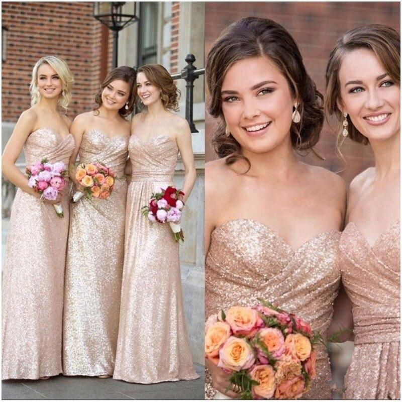 Elegant A-line Sequin   Bridesmaid     Dresses   2019 Sweetheart Neckline   Dress   Party Gown vestidos de madrinha