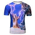 2017 syjon new galaxy espaço camiseta 3d lindo gatinho cat comer pizza engraçado tops tee manga curta camisas de verão para homens dropship