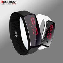 New Upgrade Section Waterproof LED Bracelet Children Women Watch Men Digital Wristwatch Sports Shock Fashion Clock