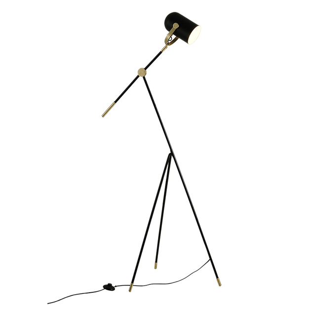 Nordic Adjustable LED Floor Lamp Modern Living Room Triangle Long Arm Stand Light Bedside Indoor Lighting