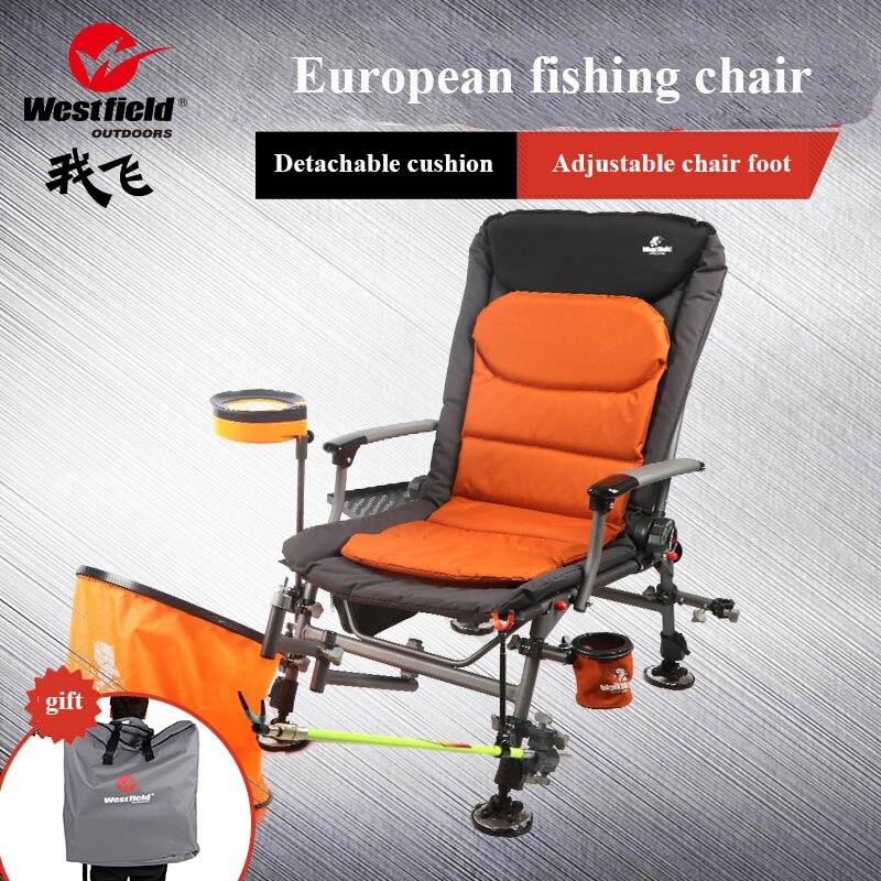 2019 novo conjunto Europeu cadeira de pesca Quatro temporadas uso 6 peso líquido KG ultra light da liga de alumínio portátil de 135 graus ajustável