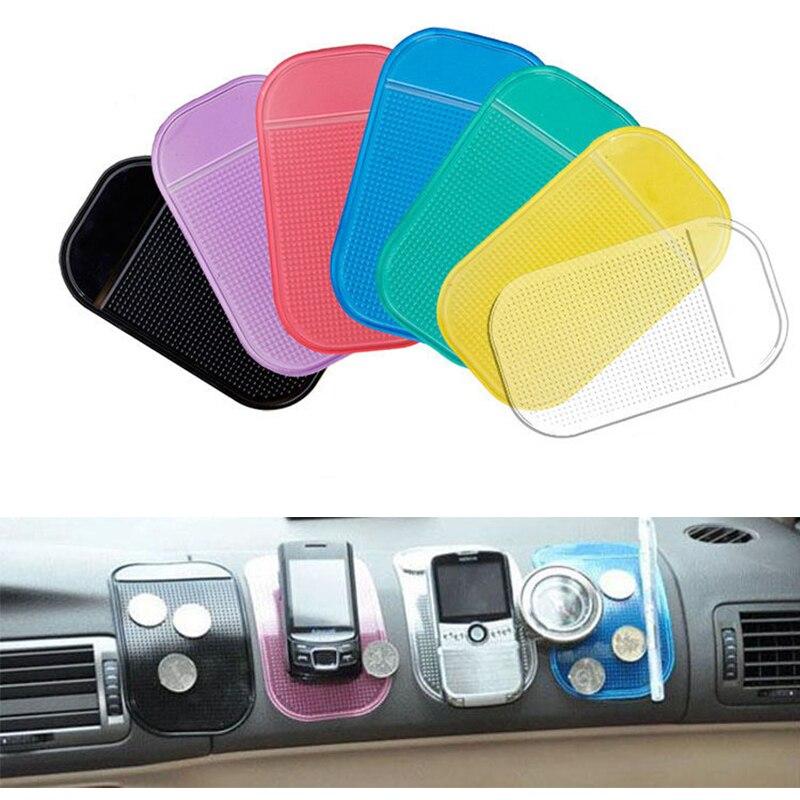 Alfombrilla antideslizante de silicona, accesorios para coche, soporte mágico antideslizante para salpicadero, almohadilla adhesiva para GPS, teléfono móvil, Iphone X, moneda