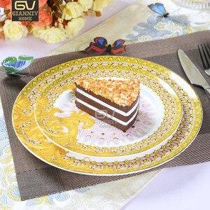 Европейская Византийская керамическая тарелка для десерта в западном стиле тарелка для стейка домашняя тарелка для фруктового завтрака по...