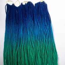 QP волосы 1 шт. Гавана твист вязанные крючком косы волосы 30 корней/упаковка Синтетические Черные косички волосы для наращивания высокотемпературное волокно 100 г