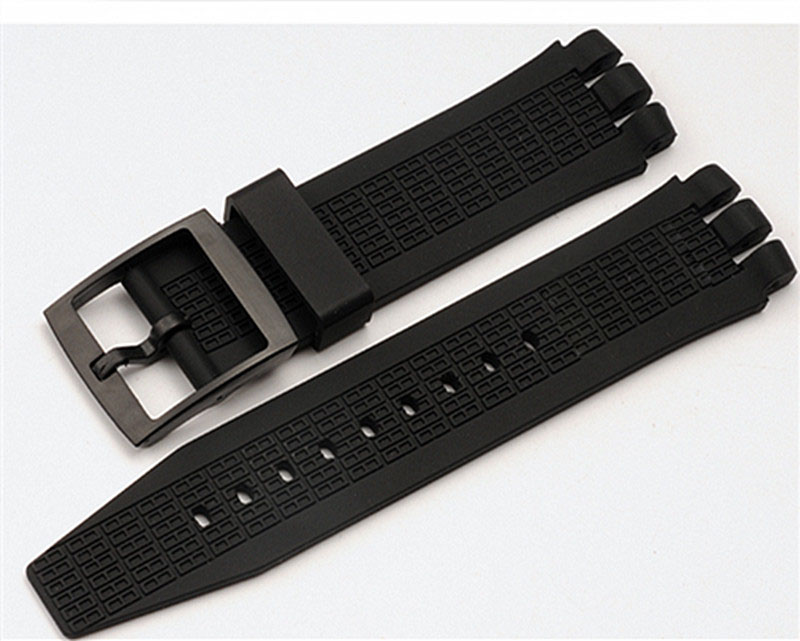 The New! For Swatch Swatch YNS4001 Watch Rubber Strap White Black Silicone Watch with 21mm Watch Accessories