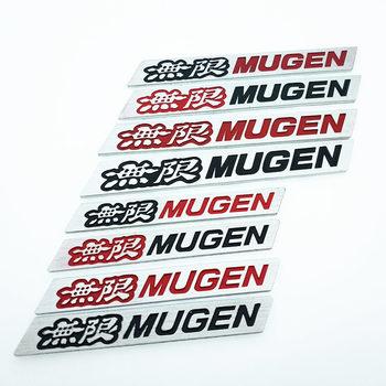 new 3D Aluminium alloy MUGEN Auto Car Sticker Emblem Chrome Logo Rear Badge for HONDA Civic Accord S2000 CR-V Car-Styling Covers