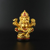 India Elephant god statue Home Office Talisman Efficacious House Protection India, Thailand Gilding Ganesha Buddha Sculpture