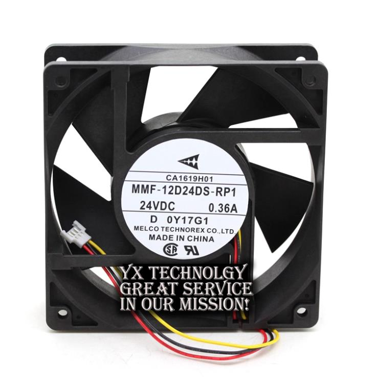 New MMF 12D24DS RP1 24V 0 36A 12038 A740 inverter fan