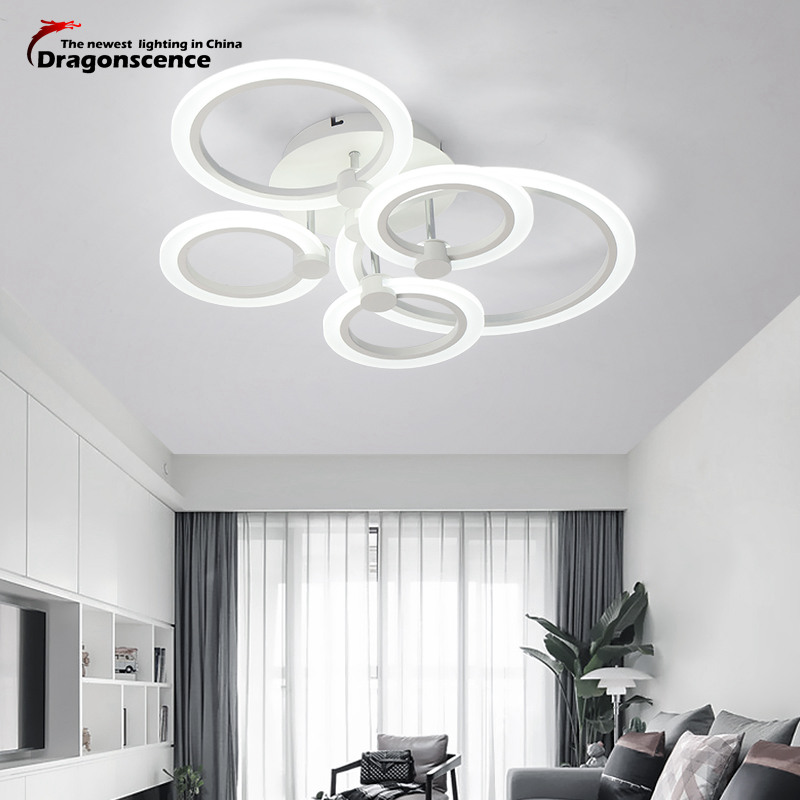 цена Dragonsce modern led ceiling lights for living room Bedroom ceiling lamp fixture indoor home Acrylic ring led-lamp ceiling-light