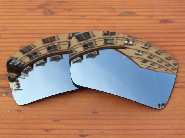 Chrome Espelho De Prata Polarizado Lentes de Reposição Para Óculos De Sol Quadro de Turbina 100% UVA & Uvb