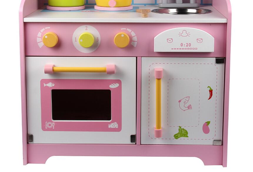 kids wooden kitchen home depot kohler sinks toys simulation japanese style pretend play cooking stoves with sound storage drawer girls playset in from