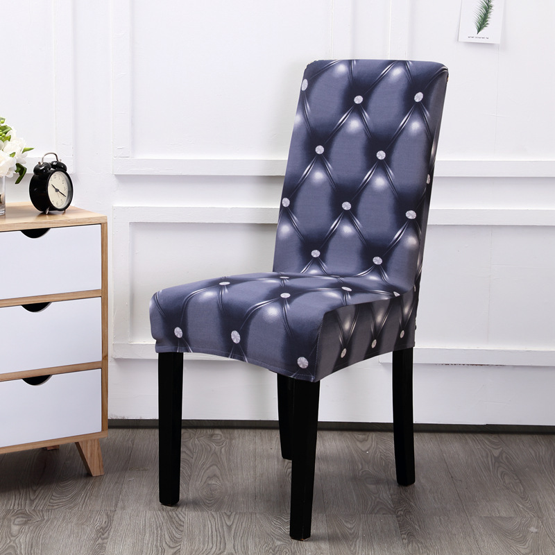 Pastoral Printing Dining Chair Cover Removable Elastic Banquet Folding Dining Room Chair Cover For Modern Kitchen Chair