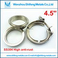 "4.5"" inch Full made of 304 stainless steel clamp and flanges T bolt Quick opening Vband clamp with male and female flanges kit"