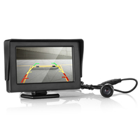 Reversing Camera with Screen 4.3 inch 170 Degrees Lens Angle Car Rear View Monitor With Night Vision 18.5mm Cam 6M Power Cable