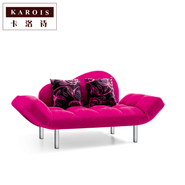 A6033 Living room modern minimalist chaise sofa bed collapsible ...