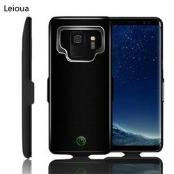 Leioua bateria estojo para samsung galaxy s9 s8 a8 caso carregador 7000 mah cobertura de carga do banco de potência para samsung s9 s8 a8 mais caso